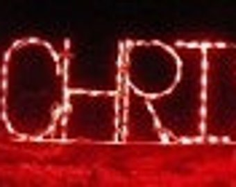 Merry Christmas Block Letter Sign Wireframe Outdoor Holiday Yard Decoration Commercial Quality