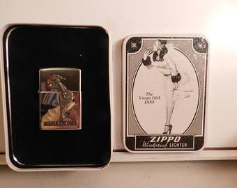 new in tin 1935 vargas girl commemorative zippo lighter