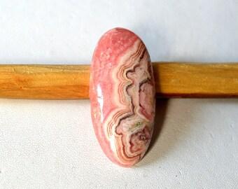 Natural Rhodochrosite 39.5 Cts Gemstone Loose Cabochon Pink Rhodochrosite Oval Shape 35x17x6 MM R13420