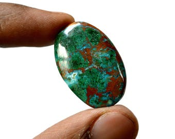 Chrysocolla 32 Cts AAA Quality Natural Gemstone Attractive Designer Oval Shape Cabochon 29x19x5.7 MM R14395