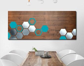 Metal Art Wall Decor, Wall Art Geometric, Wood Wall Art Decor, Modern Metal Wall Art, Wall Decor Metal Art