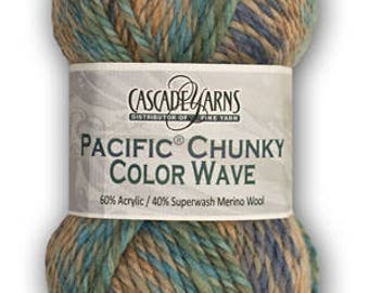 Pacific Chunky Colorwave Merino Acrylic Blend Bulky Yarn