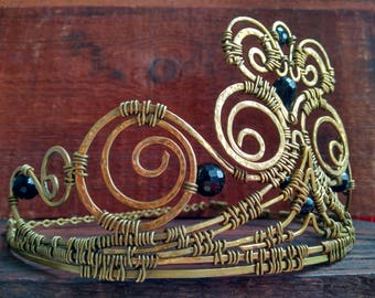Unique Brass Crown Perfomance jewelry Exlusive thing  Festival style Princess Freak Bride Crown Unusual people One item Diadema