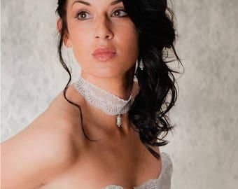 lace wedding lace bridal necklace
