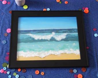 When Oceans Run Deep 11x14 Acrylic Painting