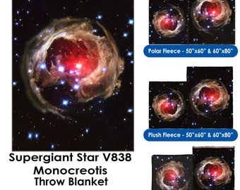 Supergiant Star V838 Monocerotis - Throw Blanket / Tapestry Wall Hanging