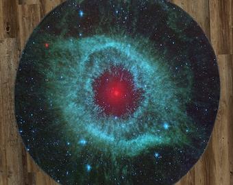 "The Helix Nebula 60"" Round Microfiber Beach Towel"