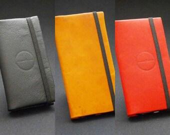 Custom Made Phone Wallet with Diary Strap - Apple Samsung Sony Google Oppo Nokia Huawei LG HTC Microsoft Motorola - Genuine Kangaroo Leather
