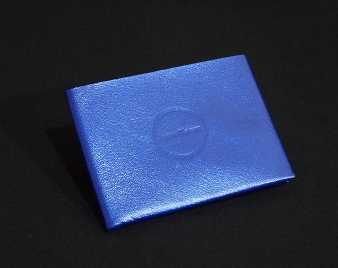 6Pocket Wallet - Blue Glaze - Kangaroo leather with RFID credit card blocking - Handmade - Mens/Womens - James Watson