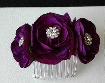 Ready to Ship Purple Hair Flowers-Purple Hair Comb