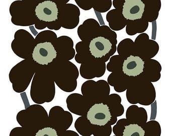 SALE Marimekko fabric   Marimekko fabric by the yard   Black unikko print fabric   Tablecloth Fabric   Home Decor fabric   floral fabric