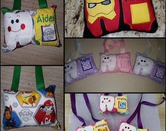 Personalized mini tooth fairy pillows