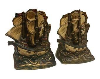 Armor bronze bookend etsy - Armor bronze bookends ...