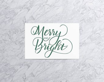 Merry and Bright  | Christmas Card and Envelope (Set of 4)