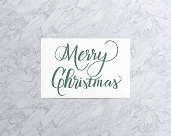 Merry Christmas | Christmas Card and Envelope (Set of 4)