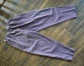 Vintage Purple Pants | 1970s Linen Pants
