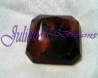 Faceted square cabochon amber - 2 123