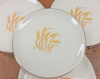 Set of 4 Bread/Side Plates ~ Homer Laughlin Golden Wheat