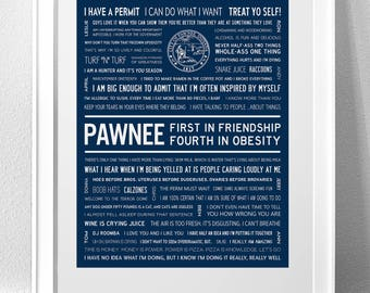 PARKS AND RECREATION Typography Print