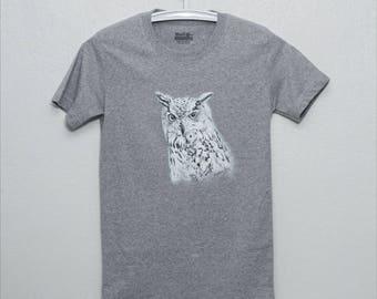 Owl,painting on shirt