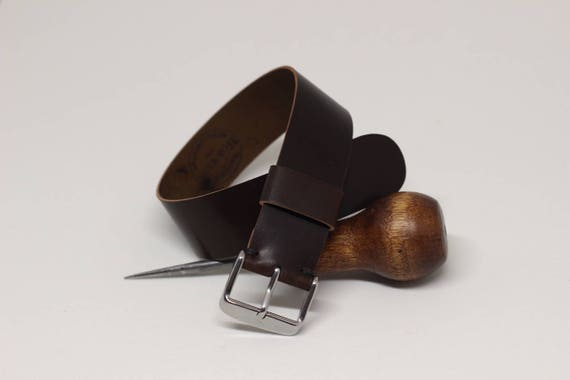 20mm Brown Horween Shell Cordovan 1 piece strap