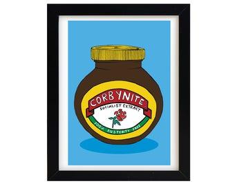 Corbynite | Marmite | Art Print | A4