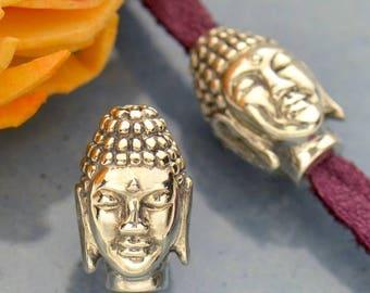 Sterling Silver, Buddha Head, Buddha Bead, Buddha Jewelry, Bead Jewelry, Silver Bead, Silver Jewelry, Silver Bead Jewelry, Religion Jewelry