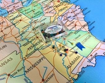 Large Usa Map Etsy - Us map large