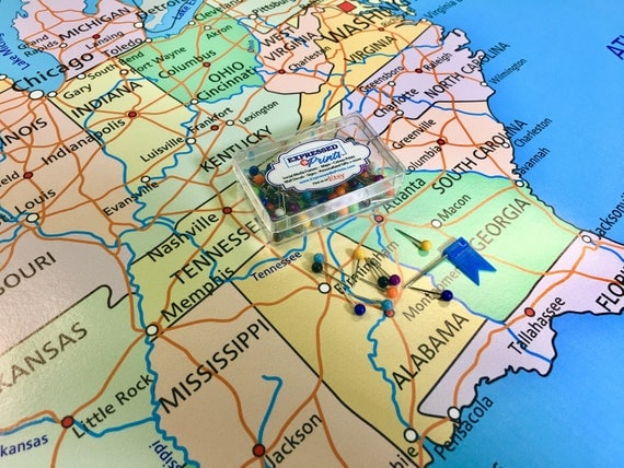 large usa map poster with push pins push pin map travel map us