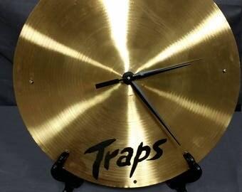 Traps Cymbal Clock