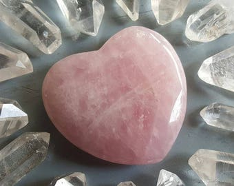 Large Rose Quartz Heart, Healing Crystals and Stones Perfect for Heart Chakra