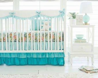 Aqua Ombre Baby Bedding Set