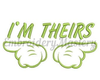 Im theirs. MACHINE EMBROIDERY DESIGN