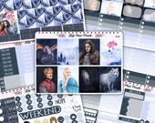 Dark Fantasy Weekly Kit Stickers (D-40,D-41,D-42,D-43,D-44,D-45,D-46) - Perfect for Erin Condren Life Planners / Journals / Stickers.
