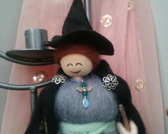 Needle Felt Fairy. Fairy. Hand made with love. Nissa -  wool felt fairy. woodland fairy. magical fairy. elf. sprite