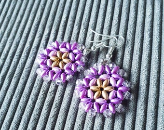 Earrings lila and nebula