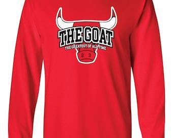 GOAT Michael Jordan Long-Sleeved Shirt