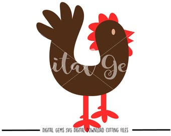 Chicken svg / dxf / eps / png files. Digital download. Compatible with Cricut and Silhouette machines. Small commercial use ok