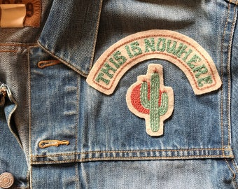 This is Nowhere' hand embroidered 2piece Neil Young patch