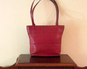 Coach Tribeca Shopper In Red Leather Style No. 9098 - Made In United States- GUC