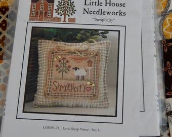 Little Sheep Virtues - #6 Simplicity - Little House Needleworks