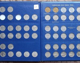 Canada 5 Cents Nickel, 1922-1967, No 1925 & 1926 Far 6, Whitman Album