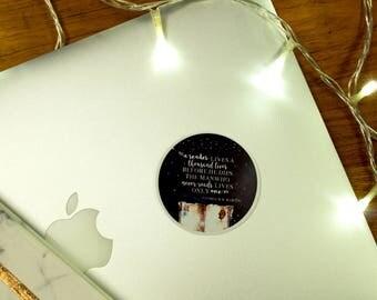 A Reader Lives a Thousand Lives Vinyl Laptop Sticker