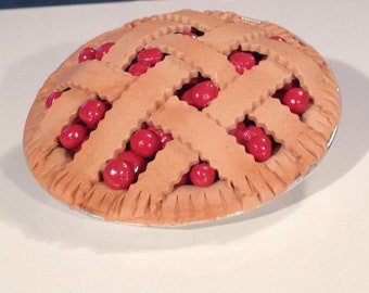 Cherry Pie for American girl and and all her 18 inch dolls.  Whole pie.