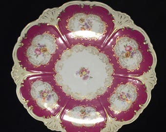 Antique Round Austrian Platter Eleanor China #31