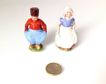 vintage small french porcelain couple