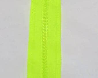 NEON yellow zipper 20 cm
