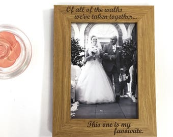 Father of the bride. Father's Day frame.