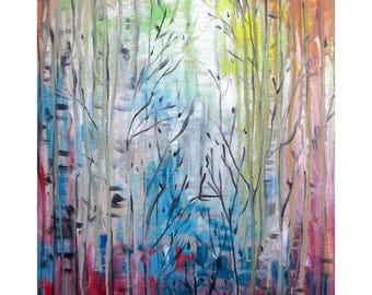 """Oil painting """"Into the woods"""""""