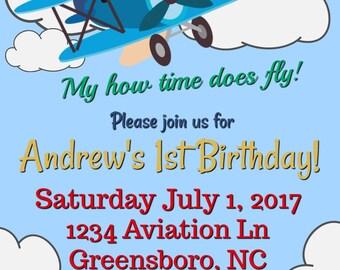 How Time Flies Birthday Invitation
